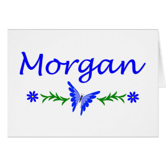Morgan (Blue Butterfly) Card
