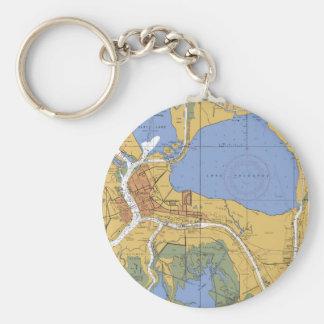 Morgan City, Louisiana Nautical Chart Keychain