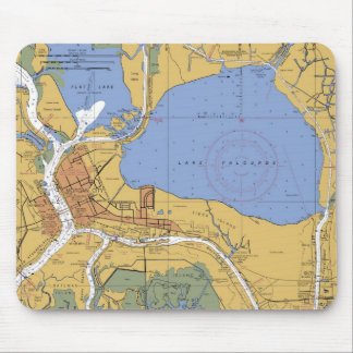 Morgan City, Louisiana Nautical Chart Mousepad