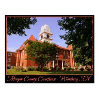 Morgan County Courthouse - Wartburg, TN Postcard