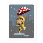 Morgan en la lluvia tarjeta postal