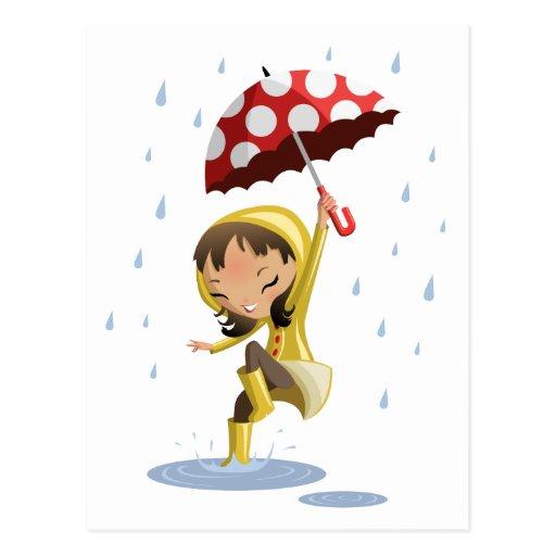 Morgan en la lluvia tarjetas postales