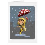 Morgan en la lluvia tarjetón