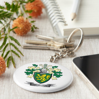 Morgan Family Crest Coat of Arms Keychain