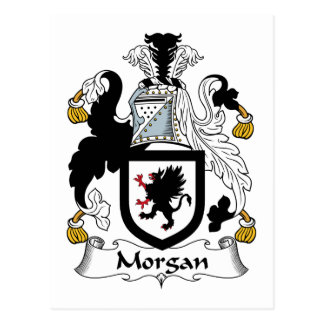 Morgan Family Crest Post Card