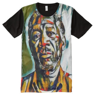 Morgan Freeman Oil On Canvas Portrait All-Over-Print Shirt