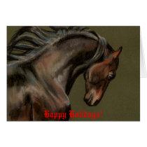 Morgan Horse Art Christmas Card