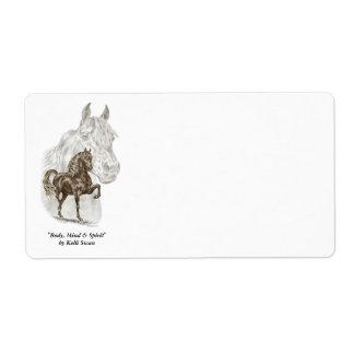 Morgan Horse Art Label
