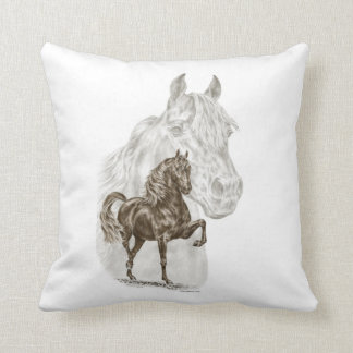 Morgan Horse Art Pillow