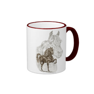 Morgan Horse Art Ringer Coffee Mug