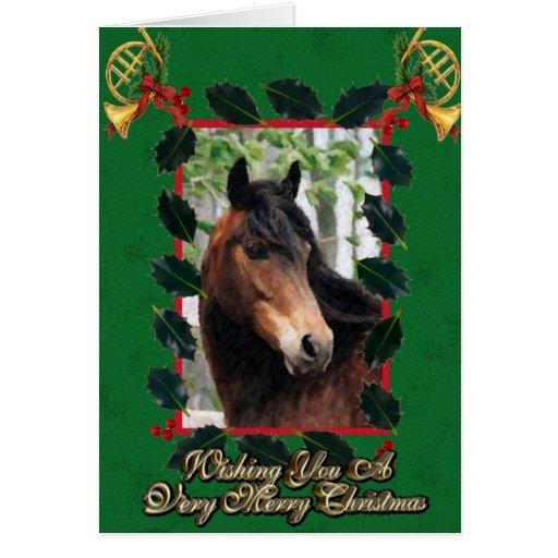 Morgan Horse Blank Christmas Card