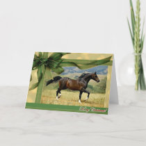 Morgan Horse Blank Christmas Card