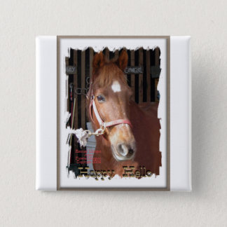Morgan Horse Happy Button
