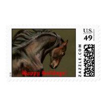 Morgan Horse, Happy Holidays! Postage