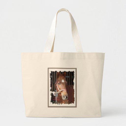 Morgan Horse Happy Jumbo Tote Bag