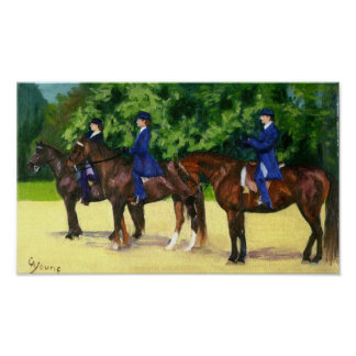 Morgan Horse In The Lineup Horse Show Portrait Poster
