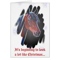 Morgan Horse Merry Christmas Card