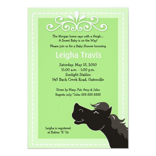 Morgan Horse Neutral 5x7 Baby Shower Invitation