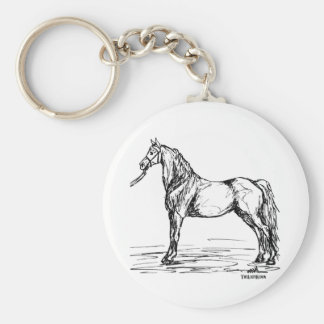 Morgan Horse Simple Sketch Keychain