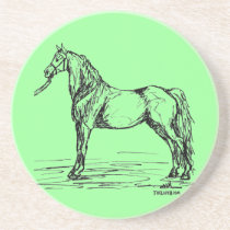 Morgan Horse Simple Sketch Sandstone Coaster