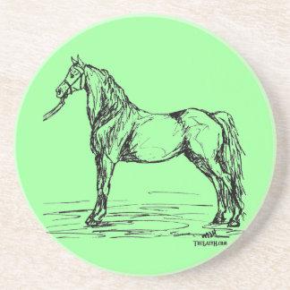 Morgan Horse Simple Sketch Sandstone Coaster