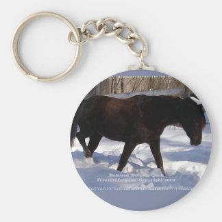 Morgan Horse Winter Wonderland Blank Basic Round Button Keychain