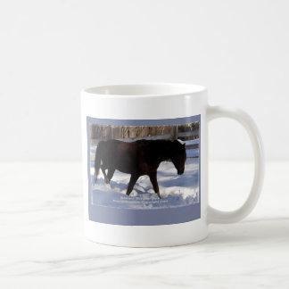Morgan Horse Winter Wonderland Blank Coffee Mug