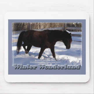 Morgan Horse Winter Wonderland Mouse Pad