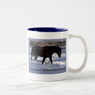 Morgan Horse Winter Wonderland Mug