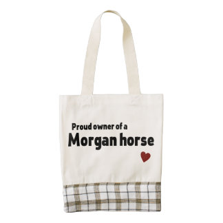 Morgan horse zazzle HEART tote bag