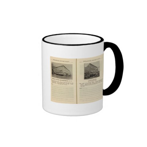 Morgan House, Van's Garage, Poughkeepsie Ringer Coffee Mug