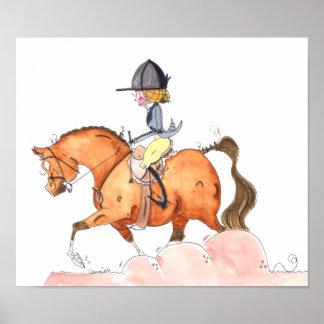 Morgan Hunt Seat horse Art Posters