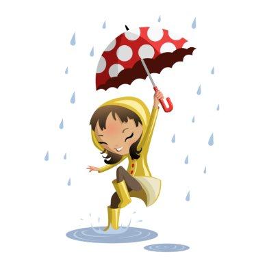 Morgan in the Rain card