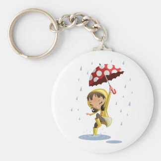 Morgan in the Rain Keychains