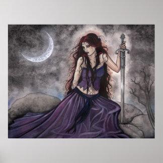 Morgan le Fay Poster by Molly Harrison