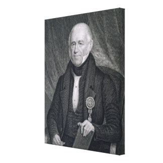 Morgan Lewis, engraved by Asher Brown Durand (1796 Canvas Print
