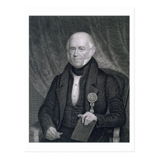 Morgan Lewis, engraved by Asher Brown Durand (1796 Postcard