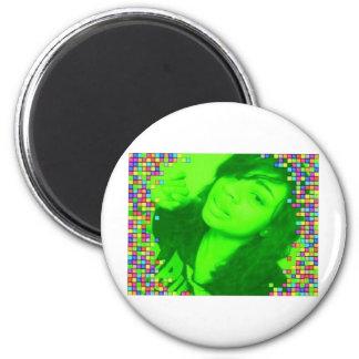 Morgan Lovelace 2 Inch Round Magnet