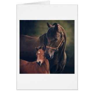 Morgan Mare and Foal Card