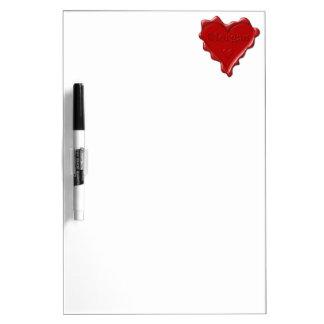 Morgan. Red heart wax seal with name Morgan Dry Erase Board