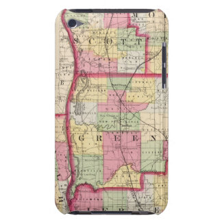 Morgan, Scott, Greene, Calhoun, condados del jerse iPod Case-Mate Carcasa