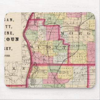 Morgan, Scott, Greene, Calhoun, condados del jerse Tapetes De Ratón