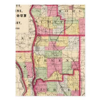 Morgan, Scott, Greene, Calhoun, condados del Tarjetas Postales