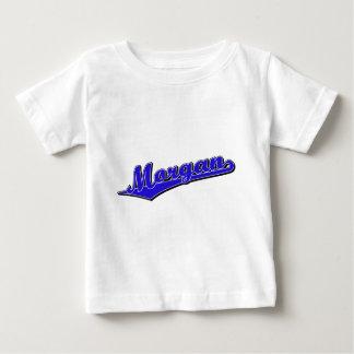 Morgan script logo in blue baby T-Shirt