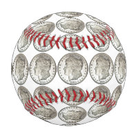 Morgan Silver Dollar Baseball