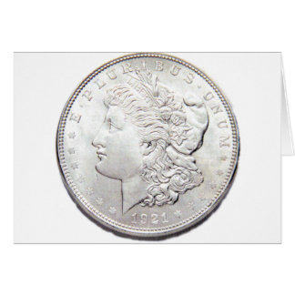 MORGAN SILVER DOLLAR CARD