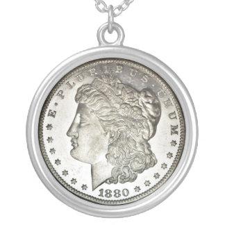 Morgan Silver Dollar Image on Necklace
