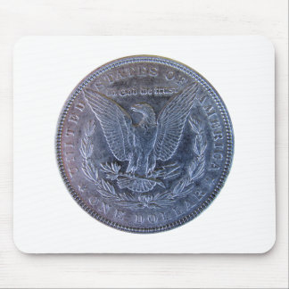 Morgan Silver Dollar Tail Mouse Pad