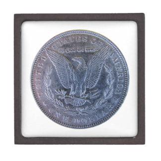 Morgan Silver Dollar Tail Premium Keepsake Box