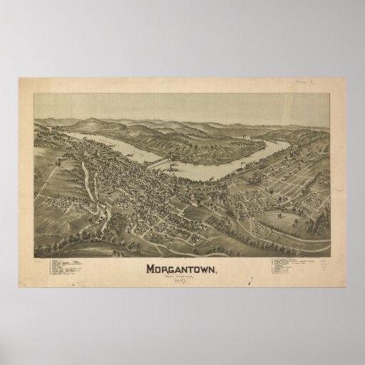 Morgan Town, West Virginia Poster